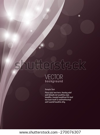 Purple Sparkly Background. - stock vector