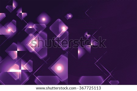 purple  Square Abstract background, vector - stock vector