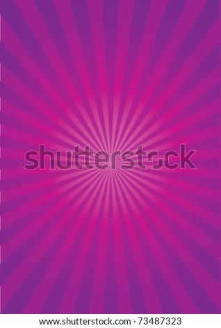 Purple sun background - stock vector