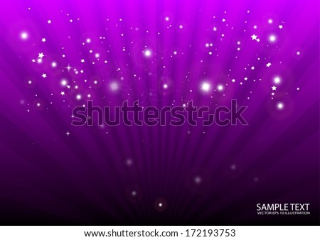 Purple vector background burst design illustration template - Vector  background  for decorative design - stock vector