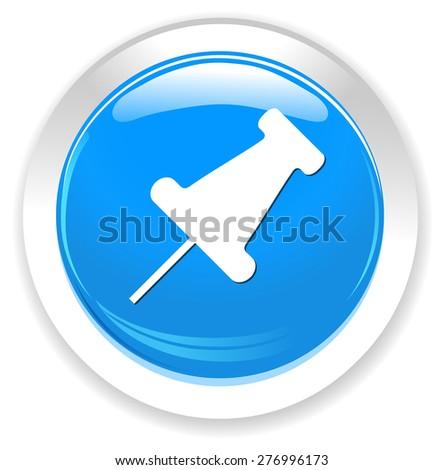 Pushpin icon - stock vector