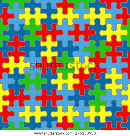 puzzle background. Autism awareness - stock vector