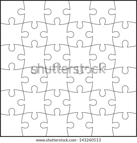 Puzzle background,vector eps 10. - stock vector