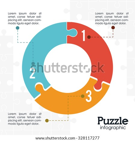 Puzzle concept with jigsaw pieces icons design, vector illustration 10 eps graphic. - stock vector