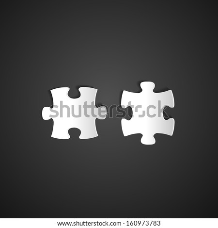 Puzzle icon. Vector illustration - stock vector