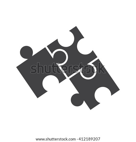 Puzzle icon Vector Illustration on the white background. - stock vector