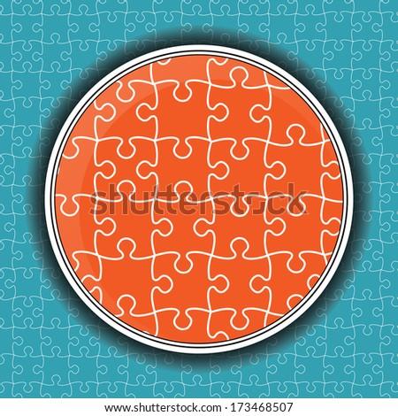 Puzzle pieces vector design - stock vector