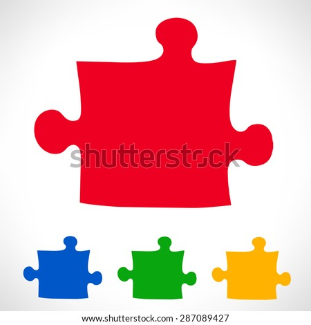 Puzzle symbol - stock vector