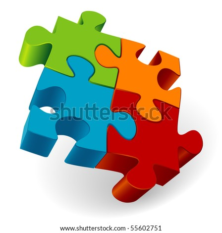 Puzzle. Vector. - stock vector
