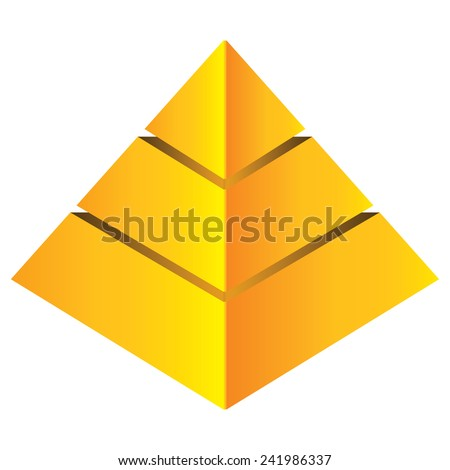 pyramid chart - stock vector