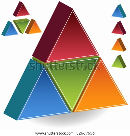 pyramid set - stock vector