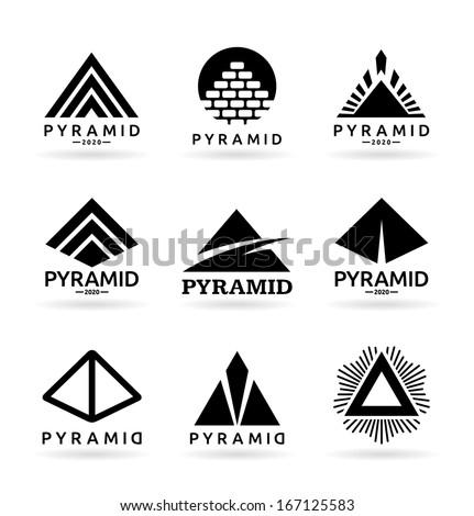 Pyramids (4) - stock vector