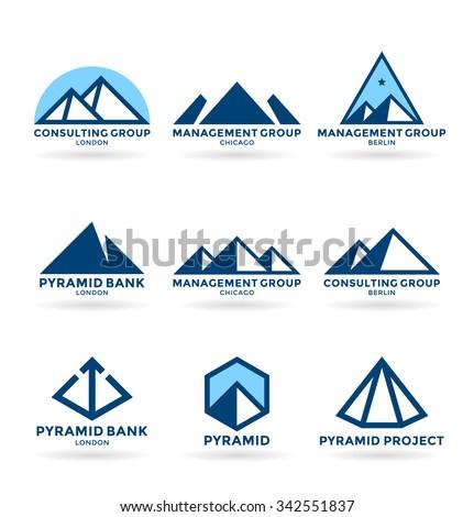 Pyramids (6) - stock vector
