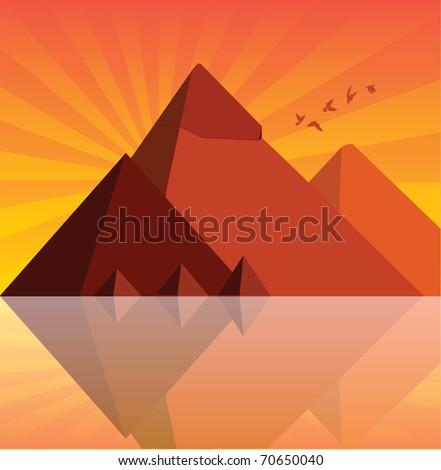 pyramids - stock vector
