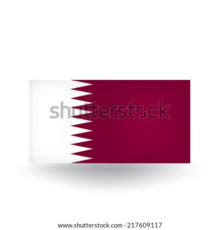 Qatar Flag - stock vector