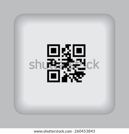 QR, Bar, Code, flat, vector, illustration - stock vector