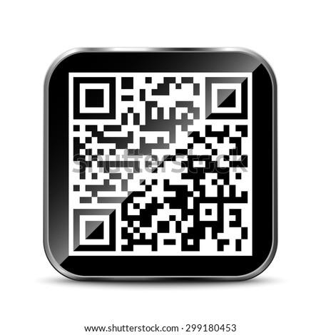 QR Code App Icon - stock vector