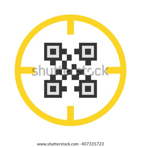 QR code icon. QR code icon vector. QR code icon simple. QR code icon app. QR code icon web. QR code icon logo. QR code icon sign. QR code icon ui. QR code icon flat. QR code icon eps. QR code icon. - stock vector