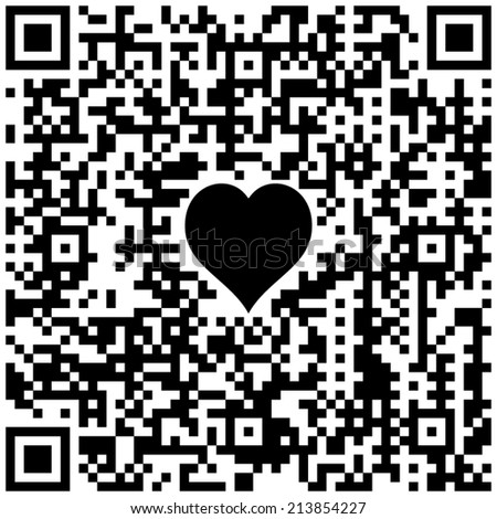 "QR code with text ""Happy Valentine's day!"" - stock vector"