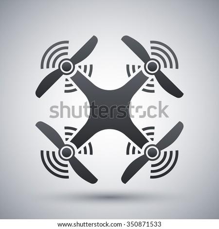 Quadcopter icon, vector - stock vector