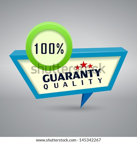 quality authentic 3d label - stock vector