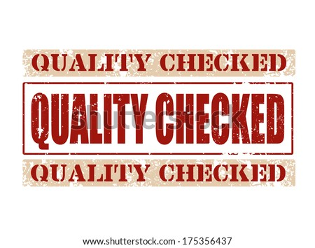 quality checked grunge stamp on whit vector illustration - stock vector