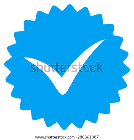 Quality icon from Competition & Success Bicolor Icon Set. This isolated flat symbol uses modern corporation light blue and gray colors. - stock vector
