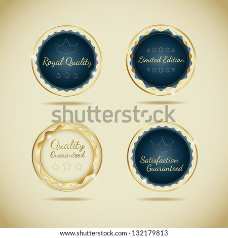 Quality Label Collection - stock vector