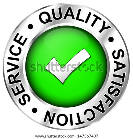 Quality,satisfaction,service - stock vector