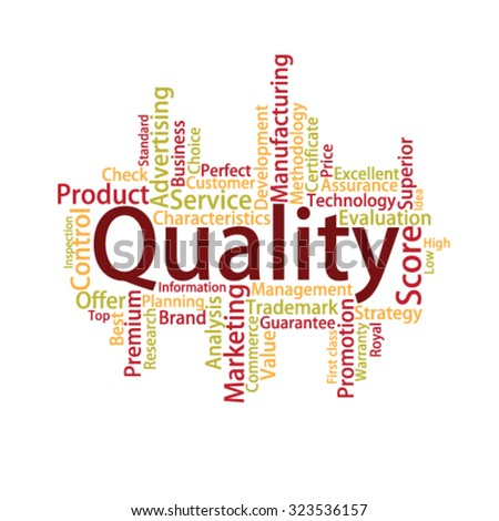Quality Tag Cloud, vector - stock vector