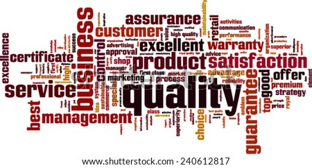 Quality word cloud concept. Vector illustration - stock vector