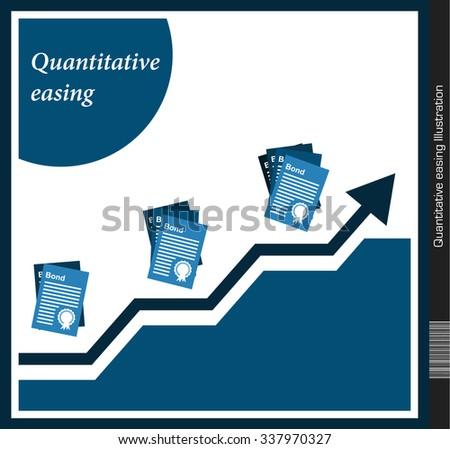 Quantitative easing Illustration - stock vector