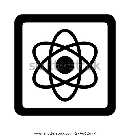 Quantum computer chip flat icon for apps and websites - stock vector