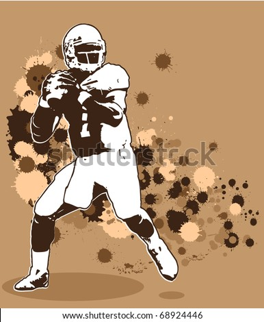 Quarterback Illustration - stock vector