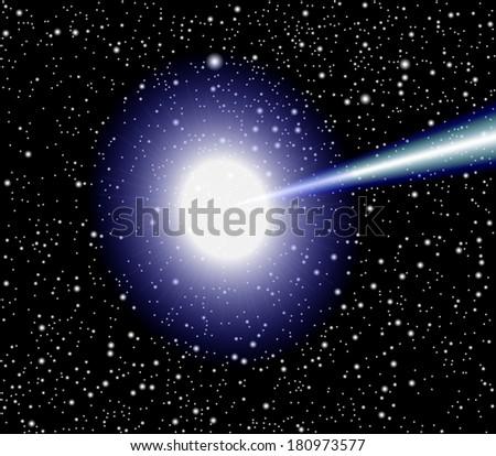 Quasar vector - stock vector