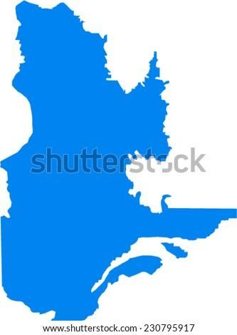 Quebec Vector Map - stock vector