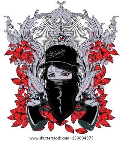 Queen of assasins - stock vector