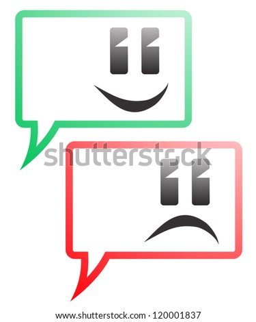 Quest commentary symbols - stock vector