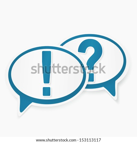 question and answer marks with speech bubbles - stock vector