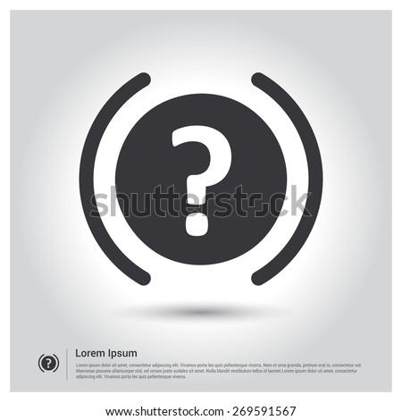 Question icon. Help Icon. Faq's Icon  Vector illustration. Flat design style - stock vector