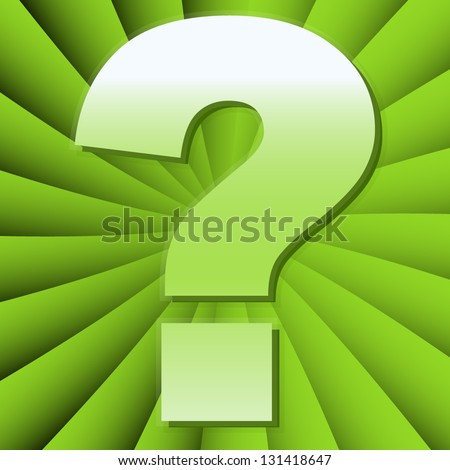 Question Mark Concepts Background - Change the main color easily - stock vector