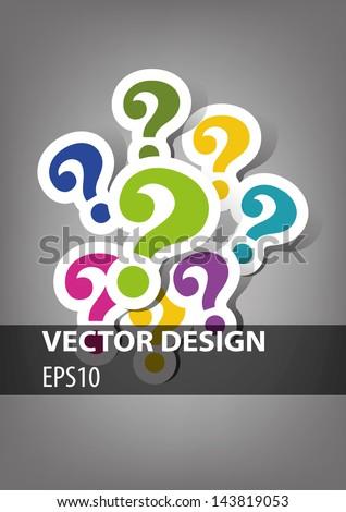question mark design - stock vector