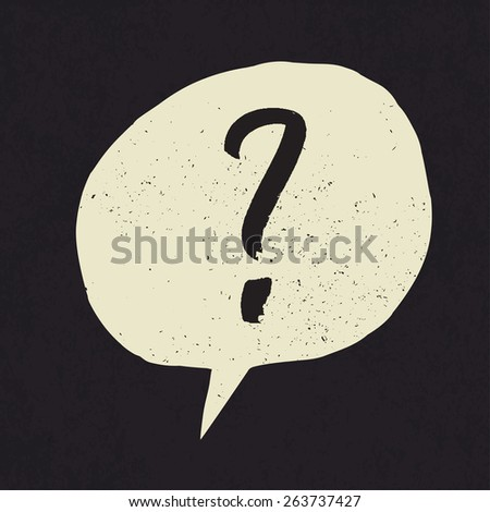 Question mark. Grunge styled - stock vector