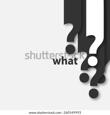 Question Mark Icon Background - stock vector