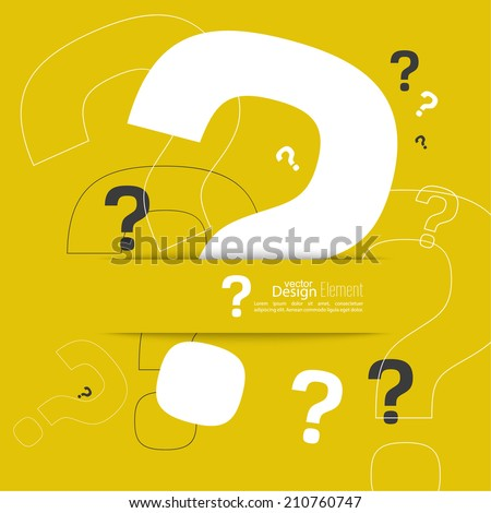 Question mark icon. Help symbol. FAQ sign on a yellow background. hipster Pattern. vector - stock vector