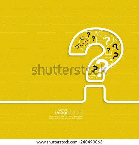 Question mark icon. Help symbol. FAQ sign on a yellow background. vector - stock vector