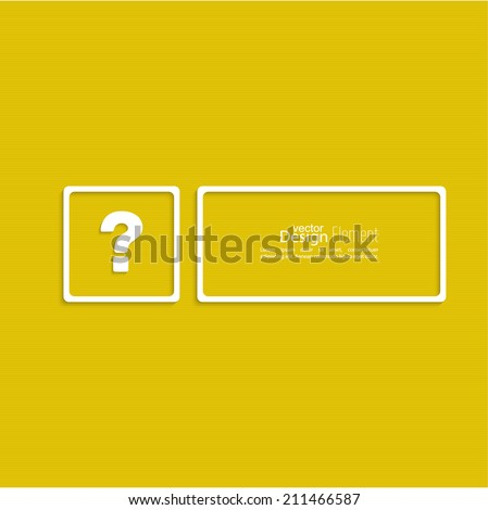 Question mark icon. Help symbol. FAQ sign on a yellow background. vector. Frame the question with a blank space for text - stock vector