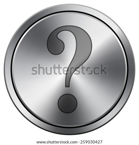 Question mark icon. Internet button on white background. EPS10 Vector.  - stock vector