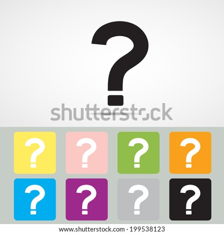 Question mark icon, Vector EPS 10. - stock vector
