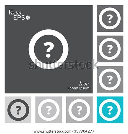 Question mark icon - vector, illustration. - stock vector